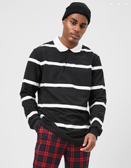 Black Stripe Rugby - American Stitch