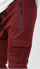 Red Marled Jogger