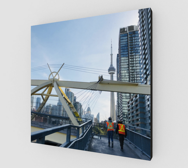City Place at Work Canvas Print