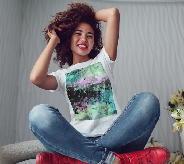 Graffiti Alley Unisex T-Shirt Floral