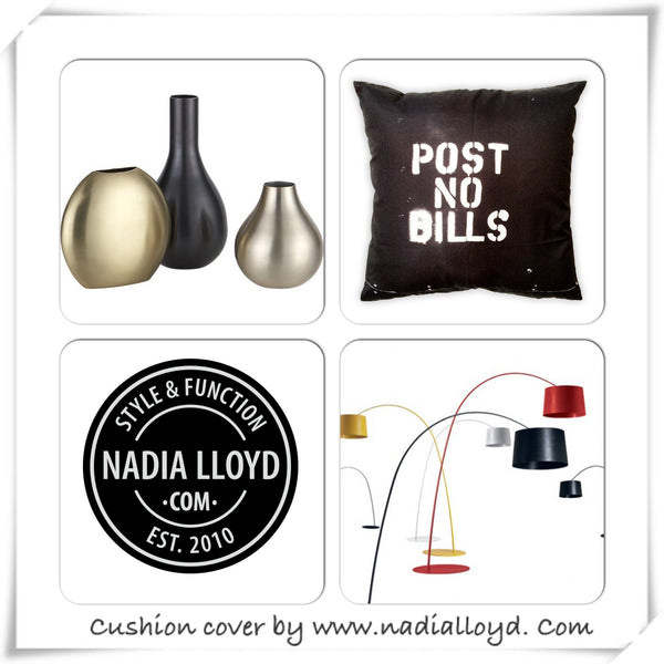 Post No Bills - Art Print Cushion