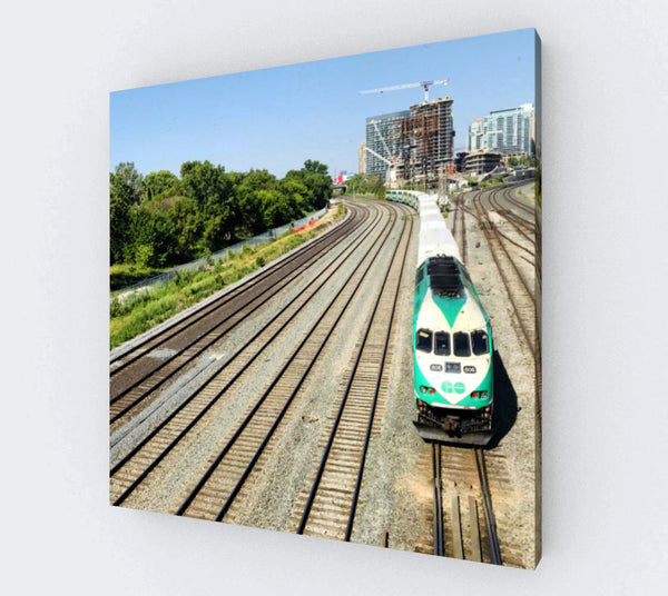 On THE GO canvas print