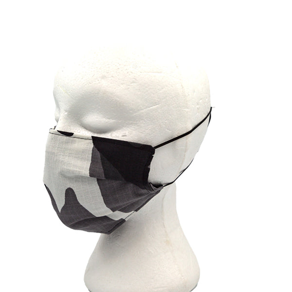 Camo Black and White Face Mask
