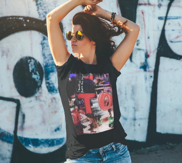 Toronto Graffiti Unisex T-Shirt  Red