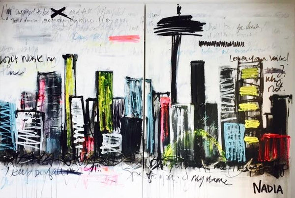 """Urban Jungle"" 4'x6'x2' (2 canvasses)"