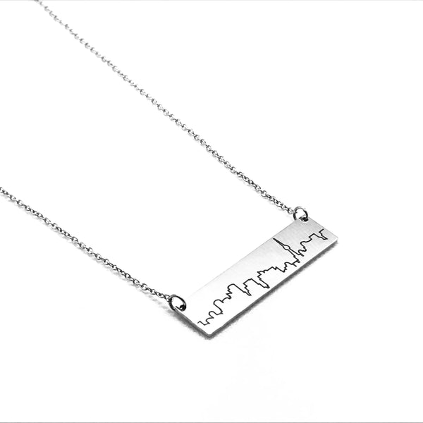 Toronto Skyline Necklace - Silver Plated