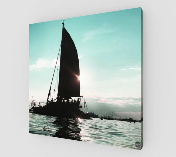 HANLAN'S SAILBOAT Canvas Print