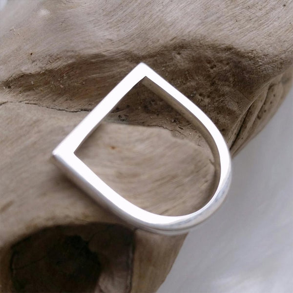 Simple Geometric Minimalist Punk Rings -Stainless Steel
