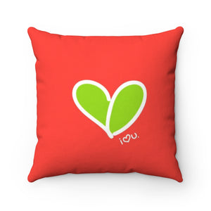 Biglove Love Spun Polyester Square Pillow - biglove