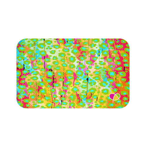 Happy Animal Print Bath Mat - biglove