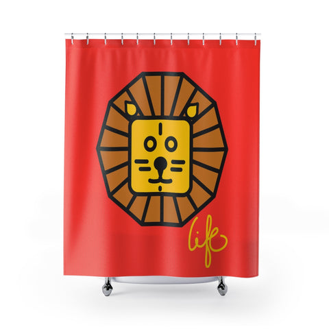 Bigme Lion Shower Curtains - biglove