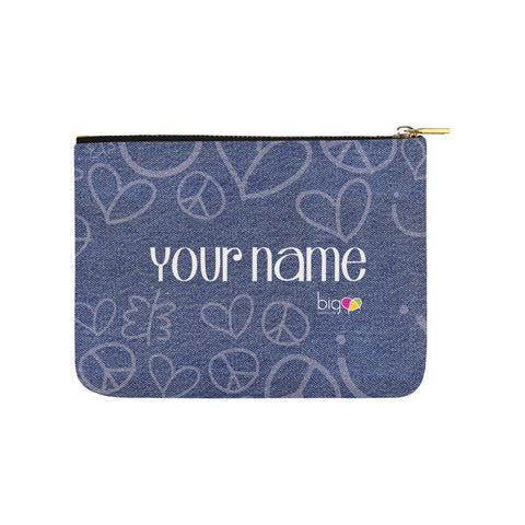 Personalized Small Carry-All Pouch 8''x 6'' Denim - biglove