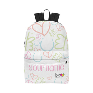 Personalized Classic Backpack Pastel Logo Pattern - Biglove