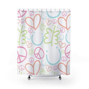 Biglove Pattern Pastel Shower Curtains - biglove