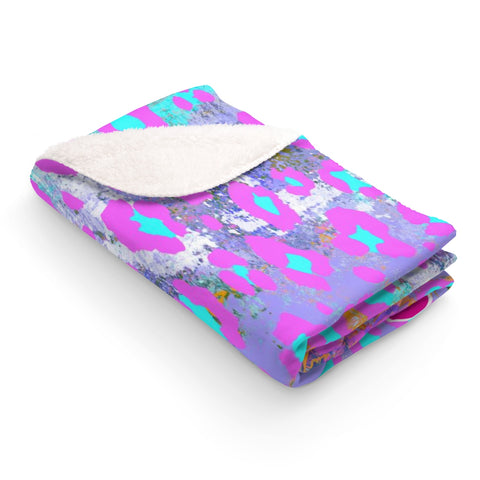 Sweet Animal Print Sherpa Fleece Blanket - biglove