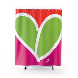 Biglove Love Shower Curtains - biglove