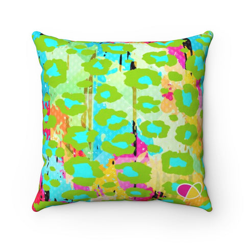 Happy Animal Print Spun Polyester Square Pillow - biglove