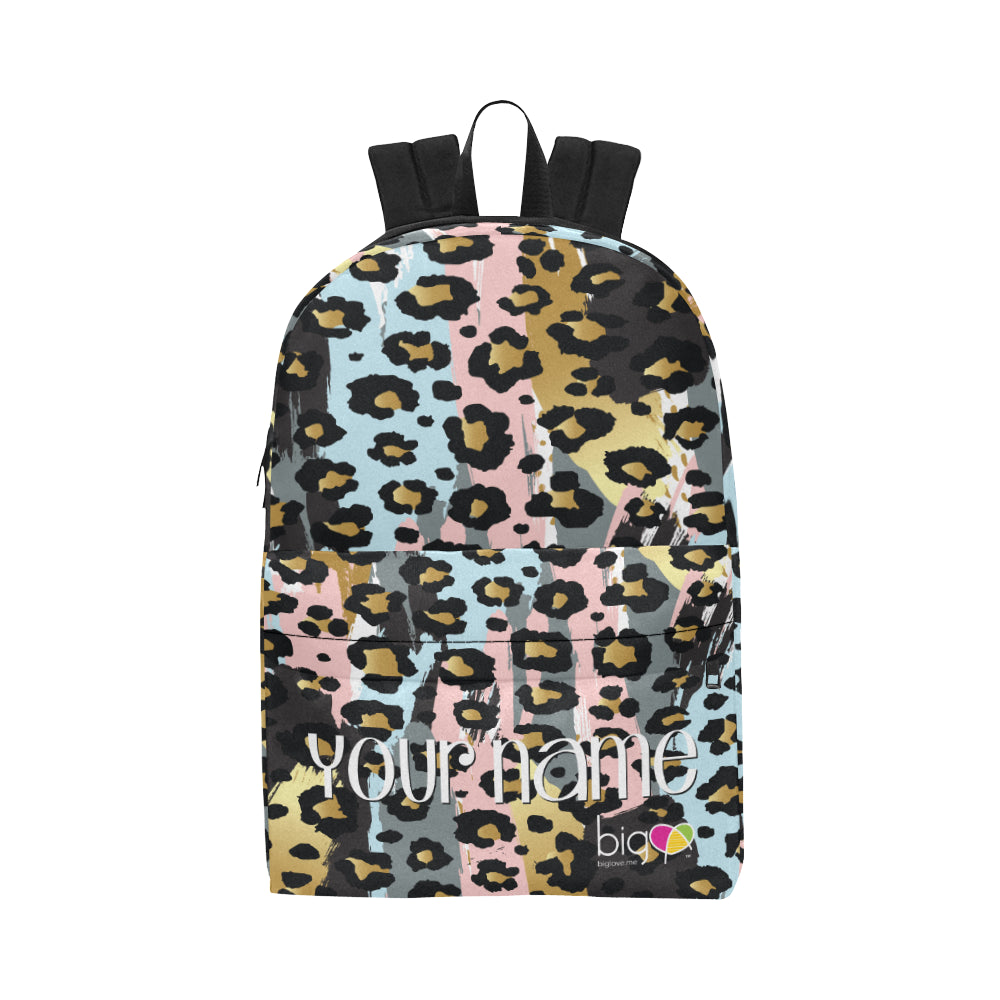 Personalized Classic Backpack Pastel Animal Print - Biglove