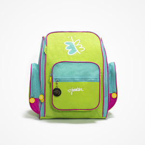 Embroidered Big Backpack for Girls Freedom | Green - biglove
