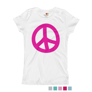 Peace T-Shirt for Girls - biglove