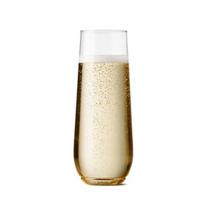 Personalized 9oz Recyclable Champagne Plastic Flute - Biglove