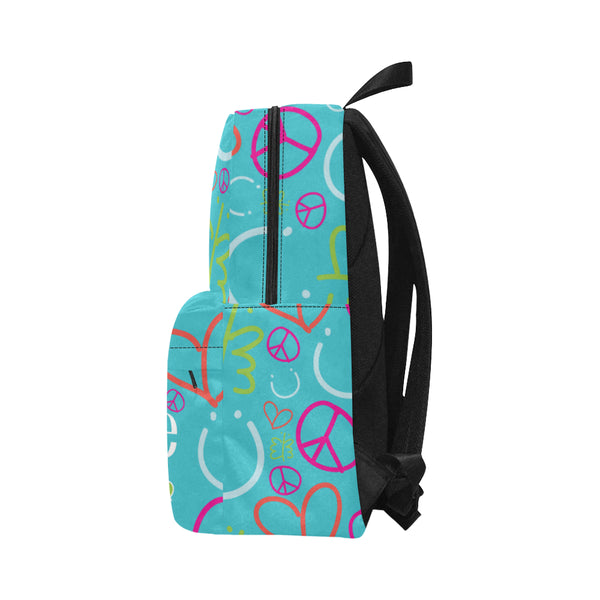 Personalized Classic Backpack Blue Logo Pattern