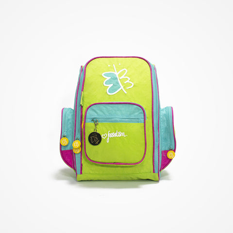 Embroidered Small Backpack for Girls Freedom | Green - biglove
