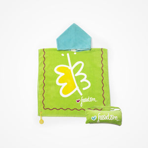 Cotton Hooded Towel with Bag for Kids Freedom | Green - biglove