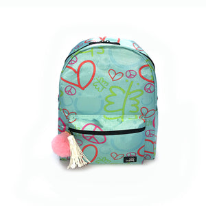 "Backpack for Girls Pink 17"" - biglove"