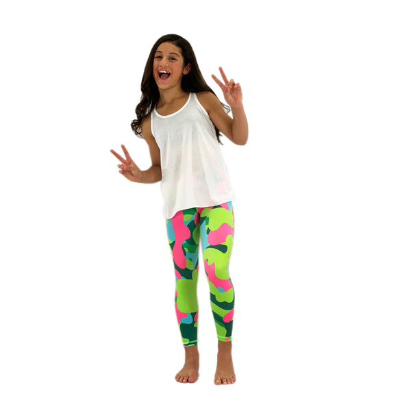 Girls Camo Leggings - Biglove