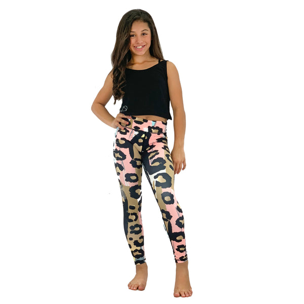 Girls Pastel Animal Print Leggings - biglove