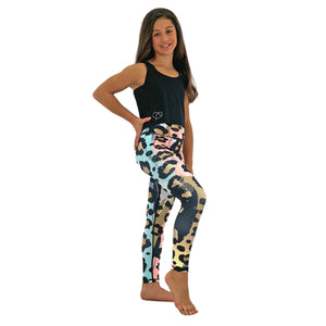 Womens Pastel Animal Print Leggings - Biglove