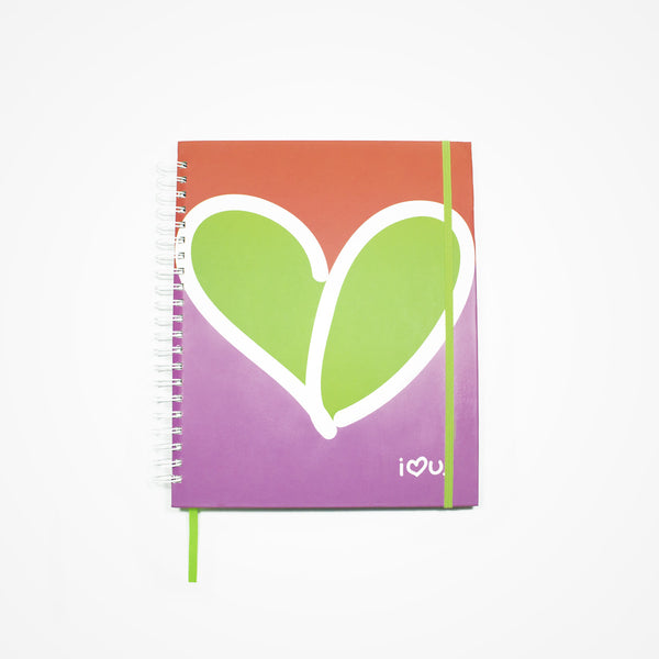 Subject Spiral Notebook Happiness | Blue - biglove