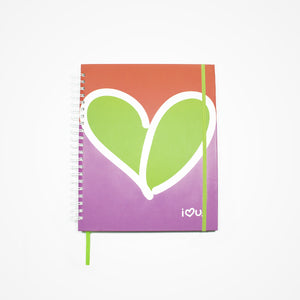 5 Subject Spiral Notebook Love | Red - biglove