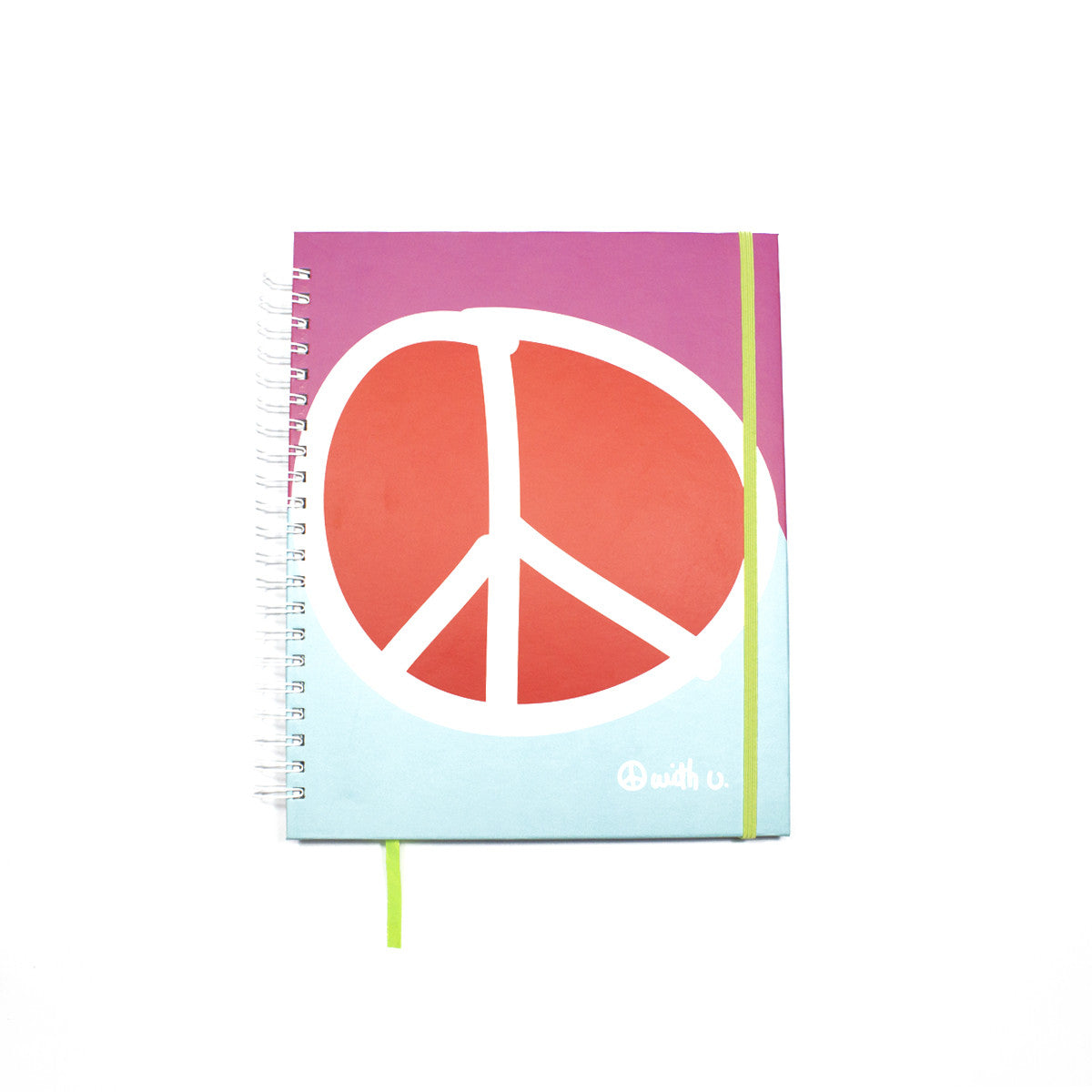 Subject Spiral Notebook Peace | Pink - biglove