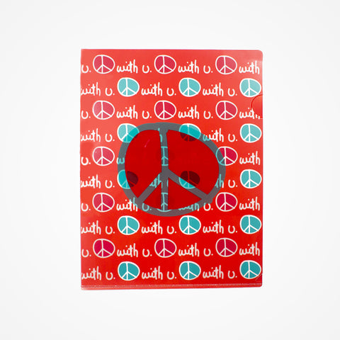 Stationary Plastic Folder Red - biglove
