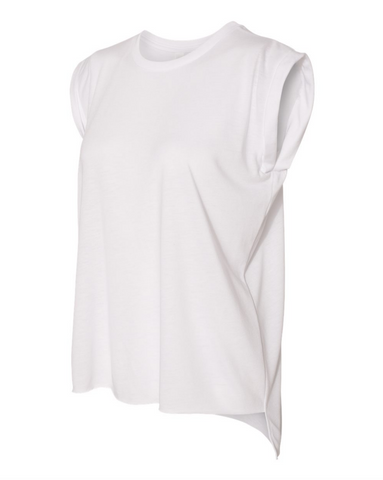 Muscle Tee Shirt For Women - White