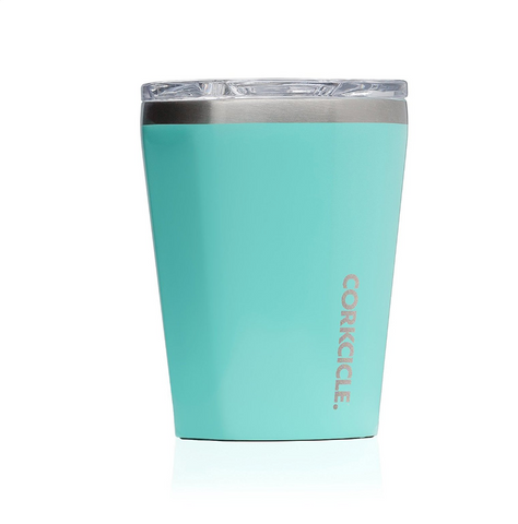 Personalized 12 oz Triple-Insulated Tumbler (Perfect for Coffee - Cocktails - Tea) - Gloss Turquoise - Biglove