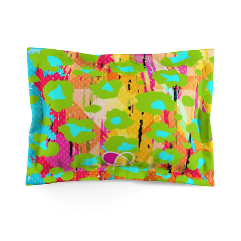 Happy Animal Print Microfiber Pillow Sham - biglove