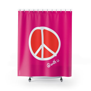 Biglove Peace Shower Curtains - biglove