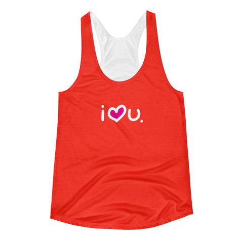 Racerback Tank for Womens / Red - biglove