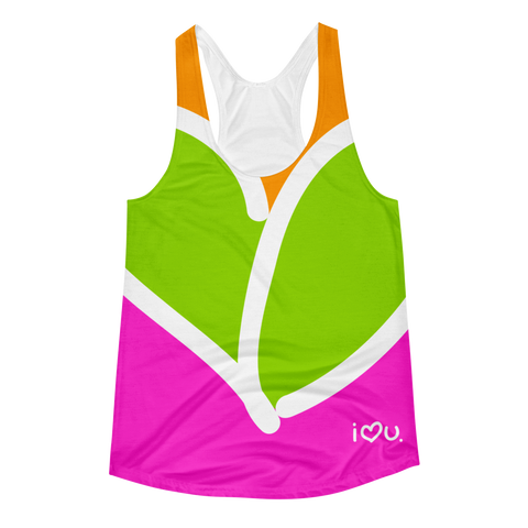 Racerback Tank for Womens / Multicolor - Biglove