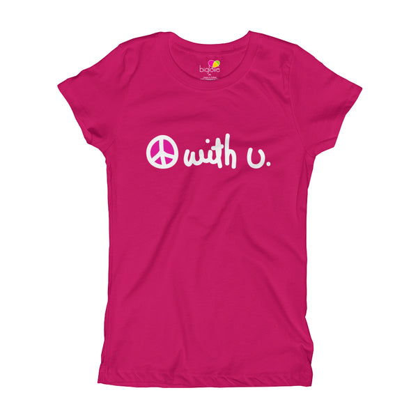 Peace With You T-Shirt for Girls - Biglove