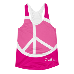 big peace adult racerback tank - biglove