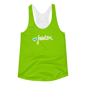 Racerback Tank for Womens / Green - biglove