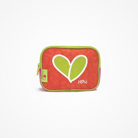 Small Square Accessory Bag | Red - biglove