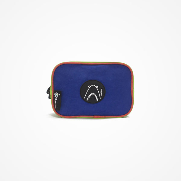 Small Square Accessory Bag | Blue | Shark - biglove