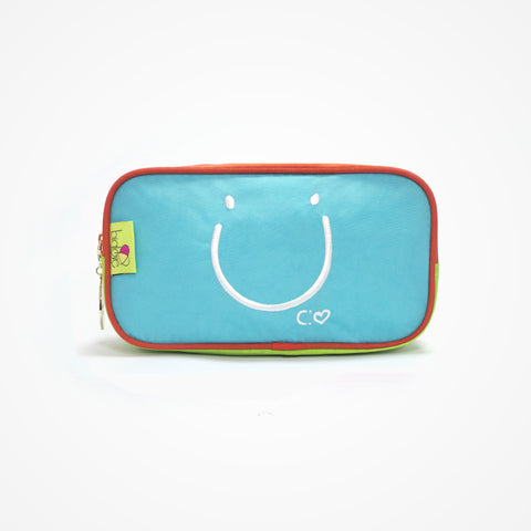 Small Rectangular Accessory Bag Happiness | Blue - biglove