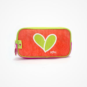 Small Rectangular Accessory Bag Love | Red - biglove
