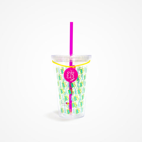 Printed Water Tumbler | Green - biglove